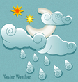 weather icons in retro style vector image vector image