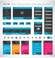 Web Design Stuff Panels and infographics vector image