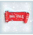 Winter sale background with red realistic banner vector image