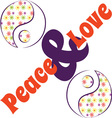 Yin Yang Love Peace vector image