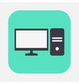 personal computer icon vector image