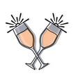 champagne glasses icon vector image