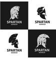 greek and roman warriors helmets vector image