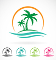 image of an palm tropical tree icon