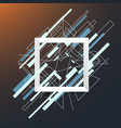 abstract geometric white frame square vector image
