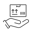 a simple linear icon for a parcel or delivery vector image vector image