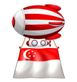 A stripe-colored balloon with the flag of vector image vector image