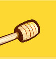 a wooden honey dipper made in low polly technique vector image vector image
