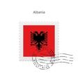 Albania Flag Postage Stamp vector image vector image