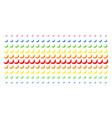 banana shape halftone spectrum effect vector image vector image