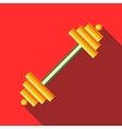 Barbell icon flat style vector image