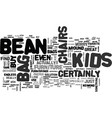 bean bag chairs for kids text word cloud concept vector image vector image