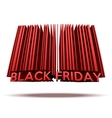 Black Friday sales tag in barcode style vector image