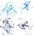 blue splatter paint abstract on white background vector image vector image