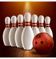bowling realistic style vector image