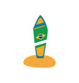 brazil map flat style icon design vector image vector image