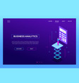 business analytics - modern isometric web vector image vector image