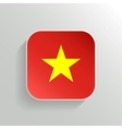 Button - Vietnam Flag Icon vector image