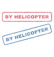 by helicopter textile stamps vector image vector image