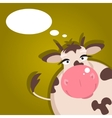 Cartoon cow vector image