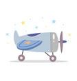 children toy airplane in scandinavian retro style vector image