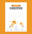 christmas card with yellow theme vector image