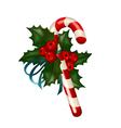 christmas sugar candy vector image vector image