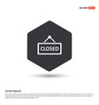 closed door sign icon vector image vector image