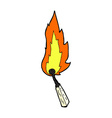 comic cartoon burning match vector image