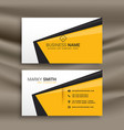 creative business card design with flat yellow vector image vector image