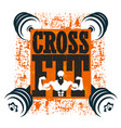 cross fit banner vector image