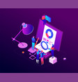 data analysis - modern colorful isometric vector image vector image