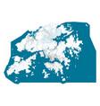 detailed map hong kong city cityscape royalty vector image