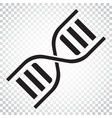 dna icon medecine molecule flat simple business vector image vector image