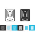 ebook simple black line icon vector image