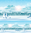 Edge of the Forest and Snow vector image
