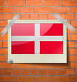 Flags Military Order Malta scotch taped to a red vector image