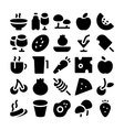 Food Icons 9 vector image vector image