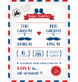 Gay Wedding Invitation vector image vector image