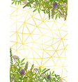 geometric background with greenery vector image vector image