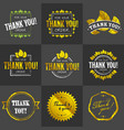 golden thank you badges vector image