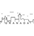 granada outline icon can be used for web logo vector image vector image