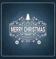 holiday logo design vintage merry christmas icon vector image