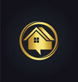 house sale communication gold logo vector image