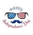independence day logo design 4th july vector image vector image