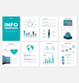infographic brochure template a4 pages with vector image