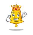king school bell character cartoon vector image