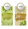 label tea2eps vector image vector image