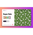 landing page -summer super sale leaves on the vector image vector image