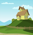 Landscape With House vector image vector image
